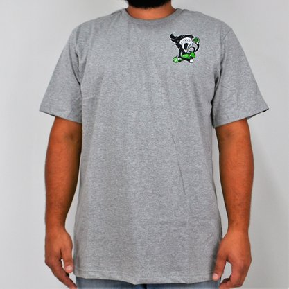 Camiseta Masculina Grow Veiz Morte Mescla Claro