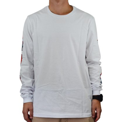 Camiseta Masculina Manga Longa Santa Cruz Slasher Swors Branco