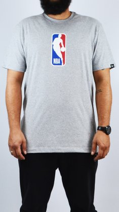 Camiseta New Era NBA Basic Logo Mescla Claro
