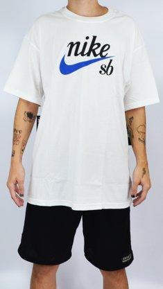 Camiseta Nike SB Logo Blue Branco