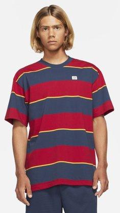 Camiseta Nike SB YB Stripe Azul/Vermelho