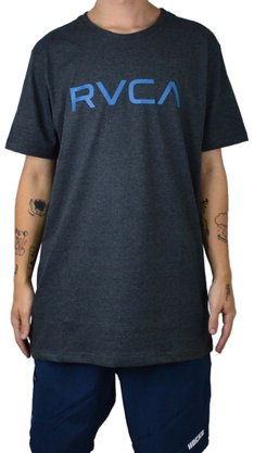 Camiseta RVCA Big Logo Ps Mescla Escuro