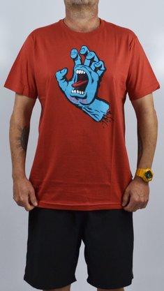 Camiseta Santa Cruz Screaming Hand Front Laranja Escuro