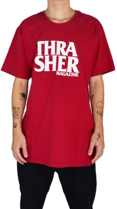 Camiseta Thrasher Anti Logo Bordô