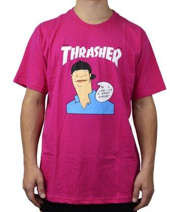 Camiseta Thrasher Gonz Cover Heliconia Rosa Pink