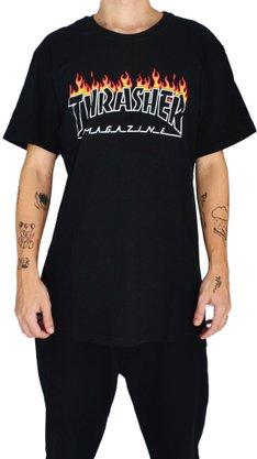 Camiseta Thrasher Scorched Preto