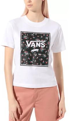 Camiseta Vans Boxed in Boxy Branco