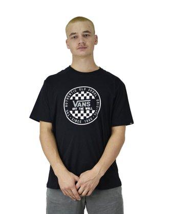 Camiseta Vans Checker Slim Preto