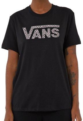 Camiseta Vans Checker V Preto