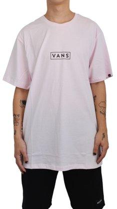 Camiseta Vans Easy Box Rosa