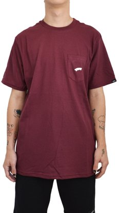 Camiseta Vans Everyday Pocket Bordô