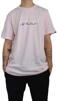 Camiseta Vans On the Wall SS Cool Rosa Claro