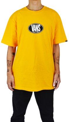 Camiseta Vans Retro Oval SS Amarelo