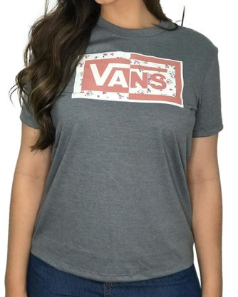 Camiseta Vans Split Ticket Cinza