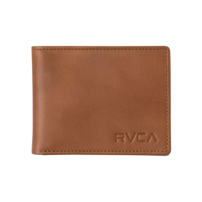 Carteira RVCA Crest Bi Fold Marrom