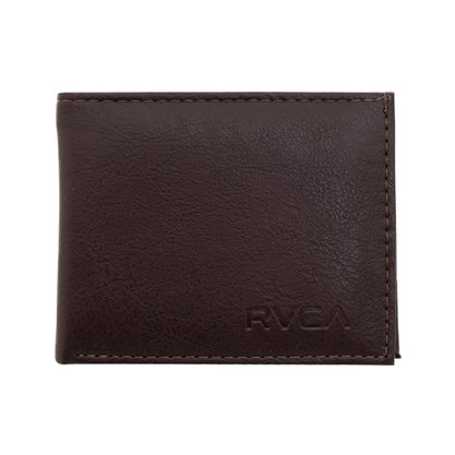 Carteira RVCA Crest Bi Fold Marrom Escuro