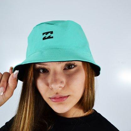 Chapéu Bucket Hat Billabong Still Single Double Preto/Azul