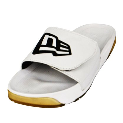 Chinelo Masculino New Era Oreo Liso Branco