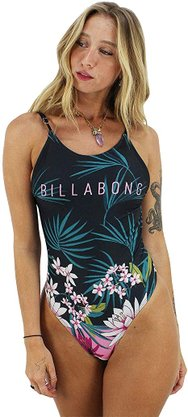 Maiô Billabong Lush Night Preto/Floral