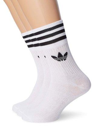 Meia Adidas Mid Cut Kit C/3 Branco/Preto