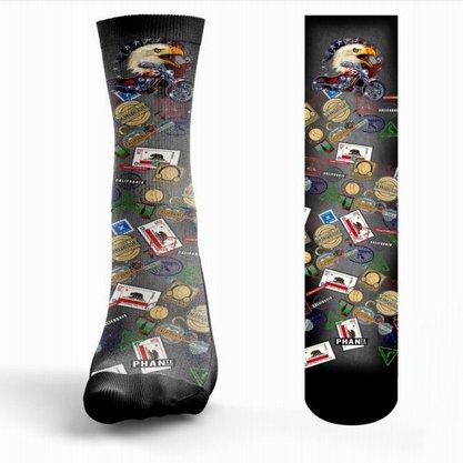 Meia Phante Socks American Gray