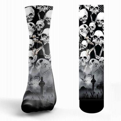 Meia Phante Socks Caveira Rock