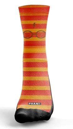 Meia Phante Socks Glasses Laranja