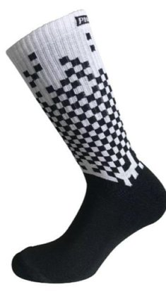 Meia Phante Socks Pixel 4K Preto/Branco