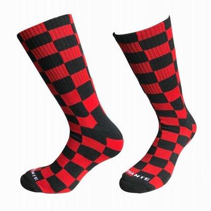 Meia Phante Socks Urban Quadriculada Vermelho