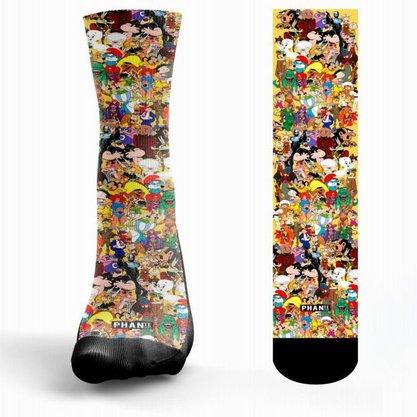 Meia Phante Socks Vintage Estampada