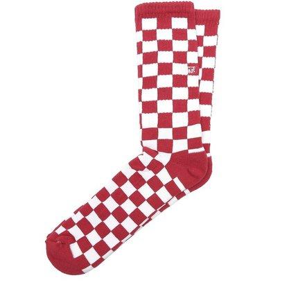 Meia Vans Checkerboard Crew II Vermelho/Branco