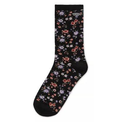 Meia Vans Ticker Sock Preto/Floral