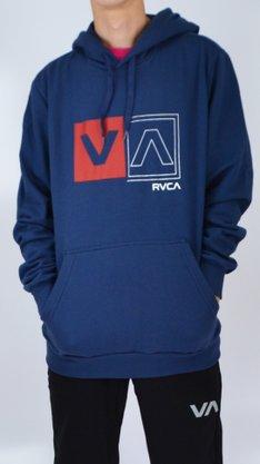 Moletom Canguru RVCA Divided Azul