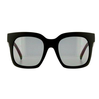 Óculos Evoke Audrey A11 Black Matte Silver/Gray Total Preto