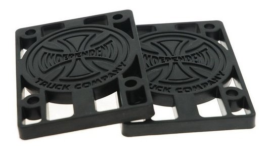 "Pads Risers Independent 1/4"" Preto"