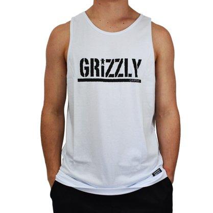 Regata Grizzly Stamped Tank Branco