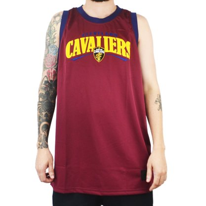 Regata Masculina New Era Cleveland Cavaliers Vermelho