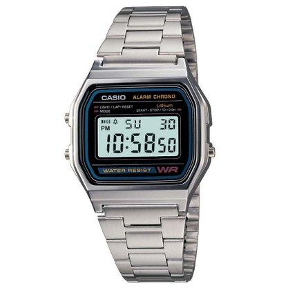 Relógio Casio Vintage A158WA-1DF-BR Prata