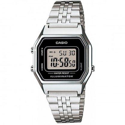 Relógio Casio Vintage Digital LA680WA-1DF Prata