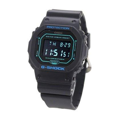 Relógio G-shock Digital DW-5600BBM-1DR Preto/Azul