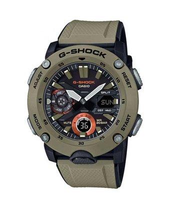 Relógio G-shock Carbon core Guard GA-2000-5ADR Caqui/Preto