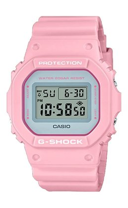 Relógio G-shock DW-5600SC-4DR Rosa Claro