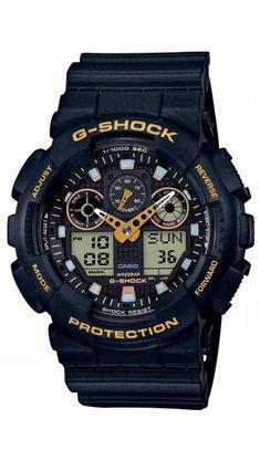 Relógio G-shock GA-100GBX-1A9DR Preto/Dourado