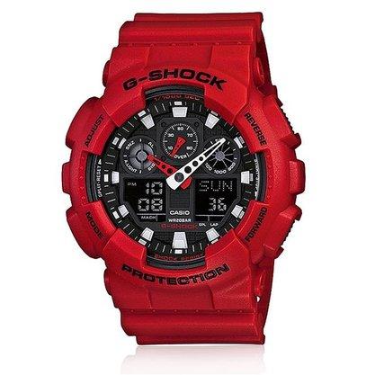 Relógio G-shock Masculino GA-100B-4ADR Vermelho