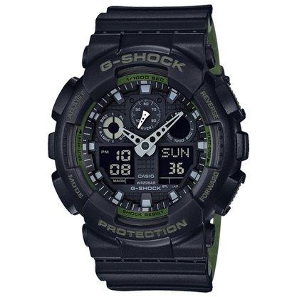 Relógio G-shock Masculino GA-100L-1ADR Preto/verde