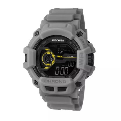 Relógio Mormaii Masculino Digital MO1105AB/8Y Cinza