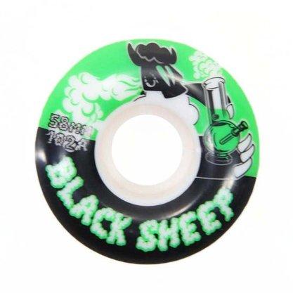 Roda Black Sheep Skate 102A 58mm Branco/Preto/Verde