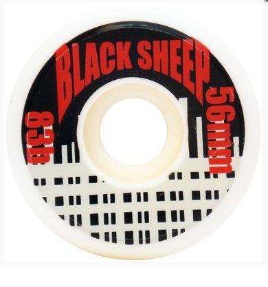 Roda Black Sheep Skate 83B 56mm Branco/Preto/Vermelho