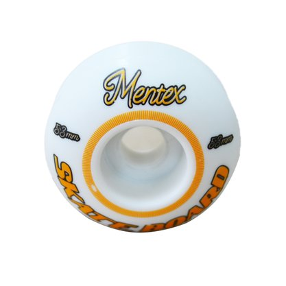Roda Mentex Skateboard 53mm Branco/Laranja