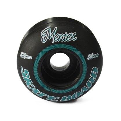 Roda Mentex Skateboard 53mm Preto